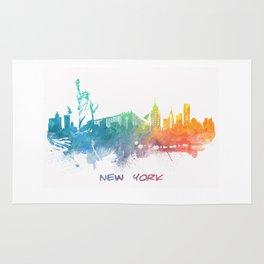 New York City Skyline colored Rug