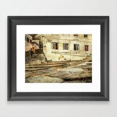 Hospital Ramp Gibraltar Framed Art Print
