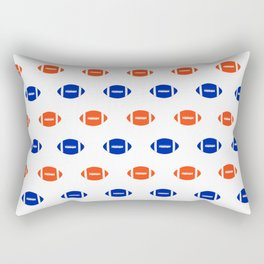 Florida fan university gators orange and blue college sports footballs pattern Rectangular Pillow