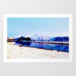 Corpach Sea loch, Highlands of Scotland Art Print