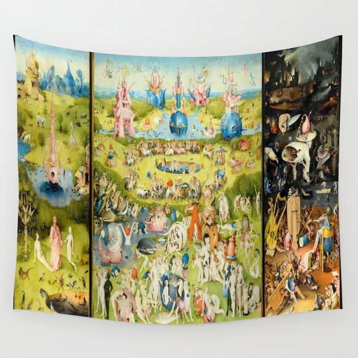 The Garden of Earthly Delights by Bosch Wall Tapestry by purelove