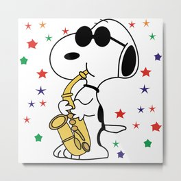 snoopy jazz Metal Print