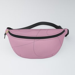 Squiggle line 1 - pink background and black squiggle Fanny Pack