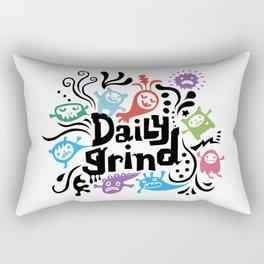 Daily Grind - white Rectangular Pillow