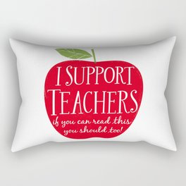 I Support Teachers (apple) Rectangular Pillow