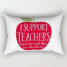 I Support Teachers (apple) Rectangular Pillow
