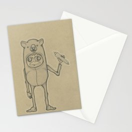 Bear Guy Spirit Animal Stationery Cards