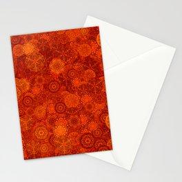 Boho Pattern in Amber Orange Stationery Cards
