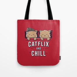 Catflix And Chill Tote Bag