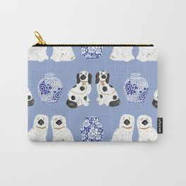 Staffordshire Dogs + Ginger Jars No. 1 Carry-All Pouch