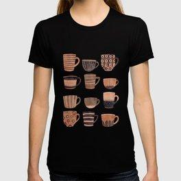 Watercolor Tea Cups T-shirt