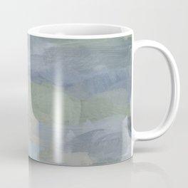 Diptych II - Sky Gray Blue Sage Green Abstract Wall Art, Painting Art, Lake Nature Print Portrait Coffee Mug