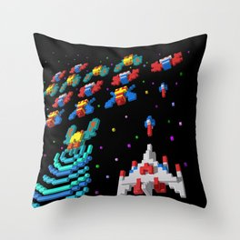 Inside Galaga Throw Pillow