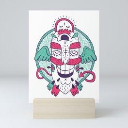 flying monster mask Mini Art Print