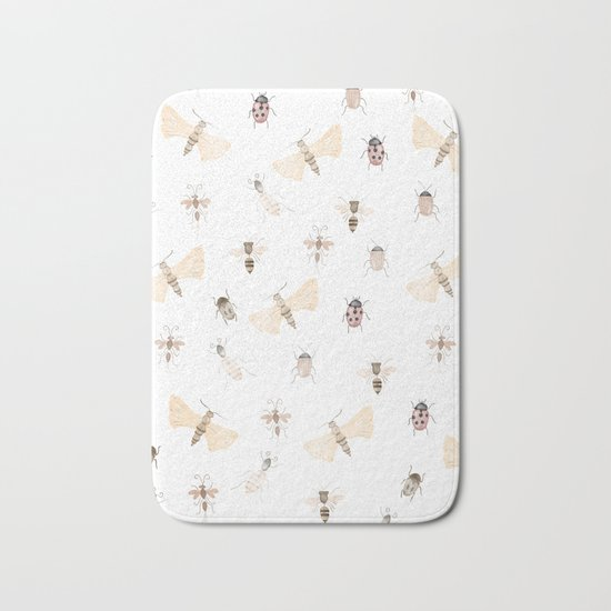 Insects and Bugs Pattern Bath Mat