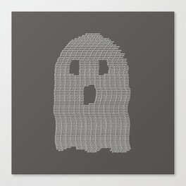 Ghost Typography Canvas Print