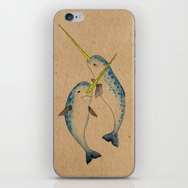 Winter Narwhals iPhone Skin