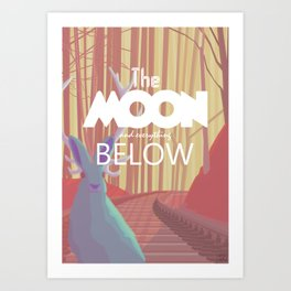 The Moon and everything Below Art Print