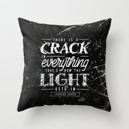 Crack Throw Pillow