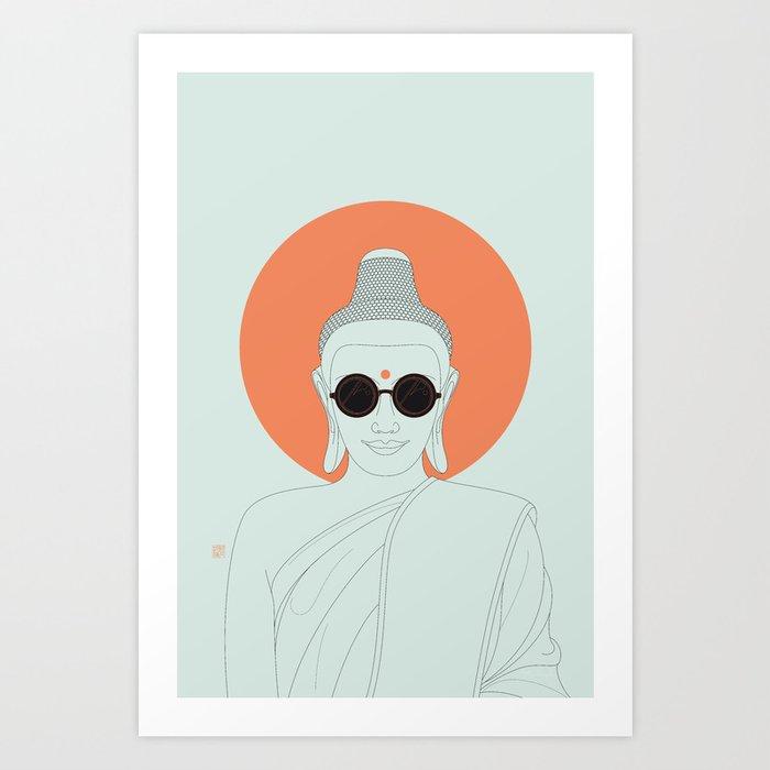 Buddha : Imagine Silence! Art Print