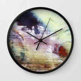 Painted wood abstract Wall Clock