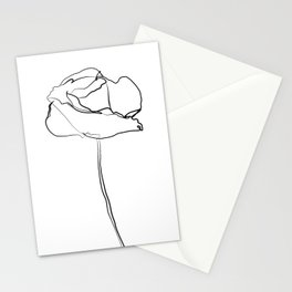 """Botanical Collection"" - Poppy Flower Stationery Cards"