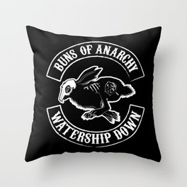 BUNS OF ANARCHY Throw Pillow