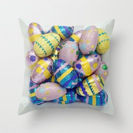 Easter Plate IV Throw Pillow