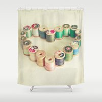 sewing Shower Curtains featuring I Heart Sewing by Cassia Beck