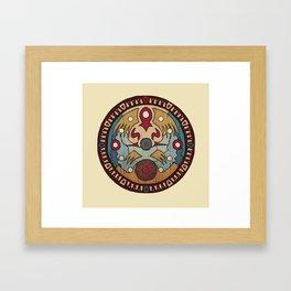 clock town clock Framed Art Print