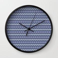 Blue Umbrella Geometry Wall Clock