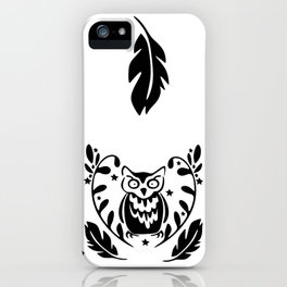 Owl's Wreath iPhone Case