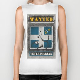 Wanted Veterinarian Biker Tank