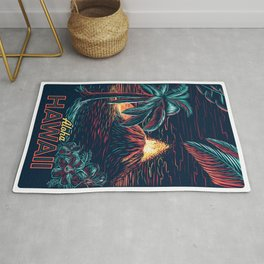 hawaiian night Rug