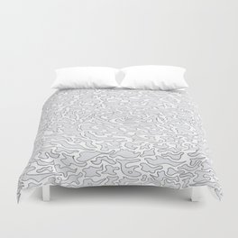 White and purple pattern  Duvet Cover