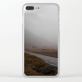 Highland Road in Scotland Clear iPhone Case