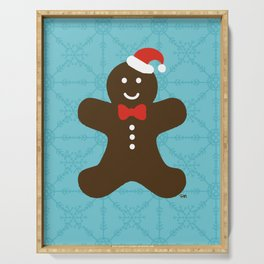 Christmas Gingerbread Man Serving Tray