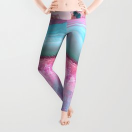 Rose Quartz and Serenity Agate Leggings