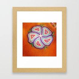 Beaded Flower Framed Art Print