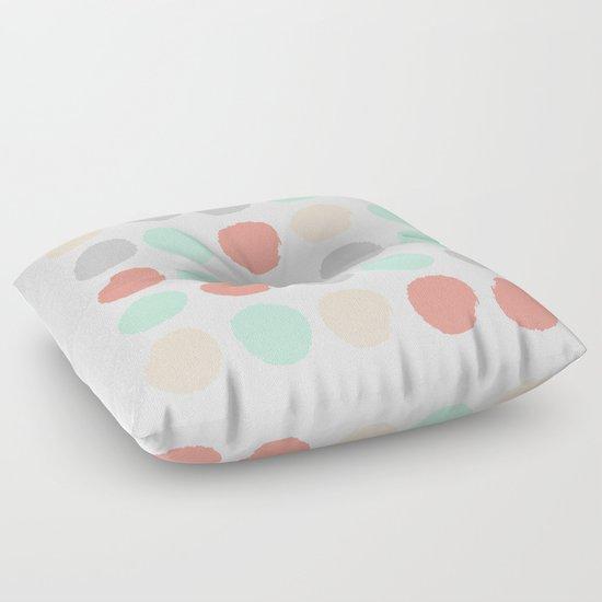 Floor Pillows For Nursery : Painted minimal dots trendy gender neutral bright happy color palette nursery art Floor Pillow ...