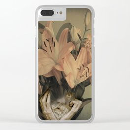 The face of fowers Clear iPhone Case