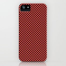 Grenadine and Black Polka Dots iPhone Case