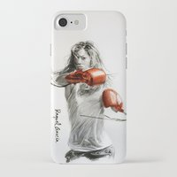 boxing iPhone & iPod Cases featuring Boxing by Raquel García Maciá