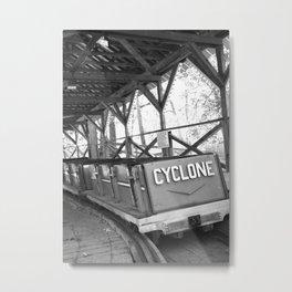 Cyclone Rollercoaster Metal Print