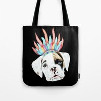 puppy Tote Bags featuring Puppy by 13 Styx