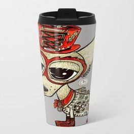 Steampunk Chihuahua gray grey Travel Mug