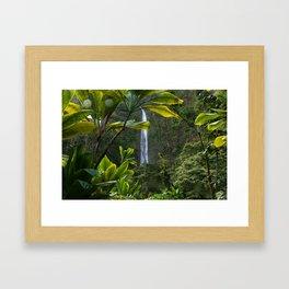 Waimoku Falls, Haleakala, Maui, Hawaii (Waterfall) Framed Art Print