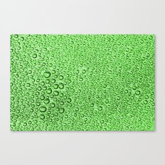 Water Condensation 05 Green Canvas Print