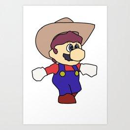Super cowboy redemption Art Print
