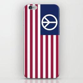 Peace and Love USA Flag iPhone Skin